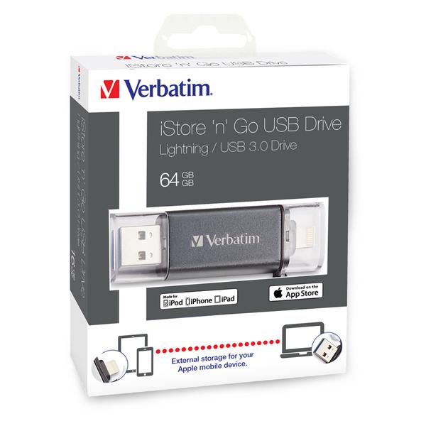 Verbatim - Usb 3.0 Superspeed Store\N\Go lightining drive - 49301 - 64GB