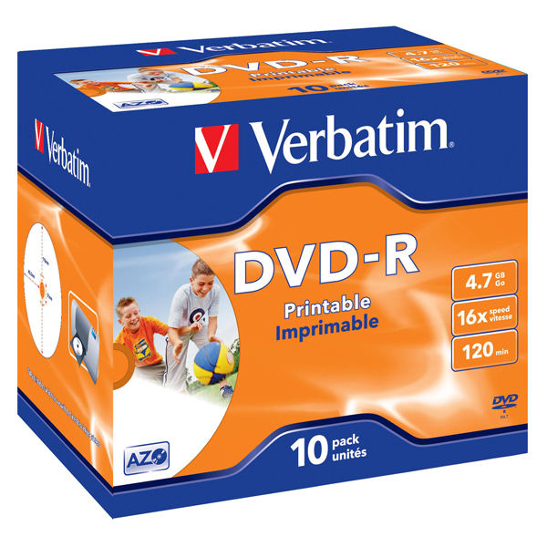 Verbatim - Scatola 10 DVD-R - Jewel Case - 43521 - 4,7GB