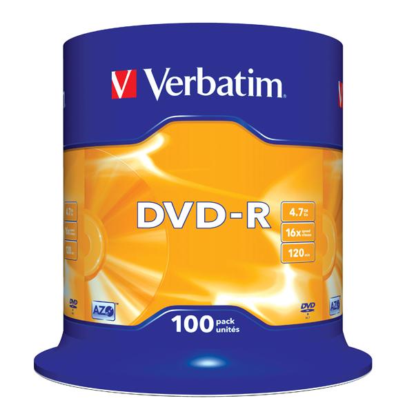 Scatola 100 dvd-r spindle 16x 4.7gb serigrafata